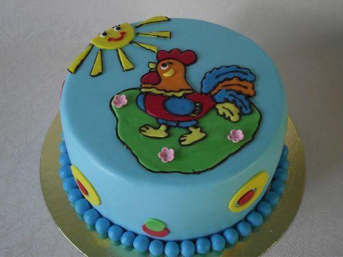 торт на новый год 2017 с картинкой петуха