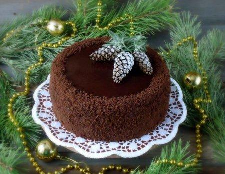 новогодние торты - обсыпка боков
