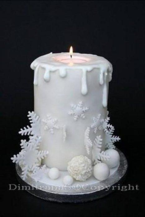 как украсиить торт на новый год айсингом