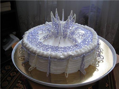 украшение новогоднего торта айсингом