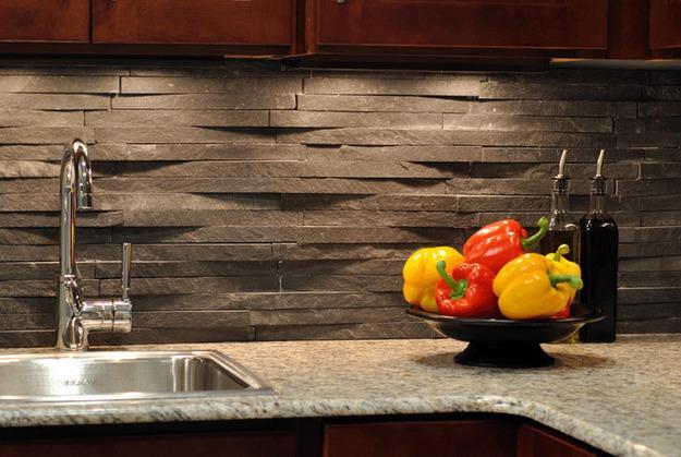 объемная каменная плитка для кухни