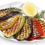 приготовление овощей на сковороде гриль