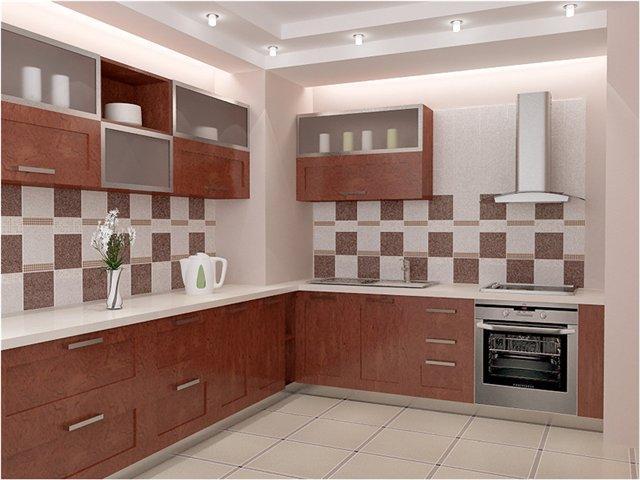 плитка контрастных цветов в интерьере кухни