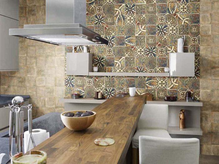 керамическая плитка для кухни имитирующая камень