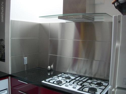 плитка для кухни имитирующая металл