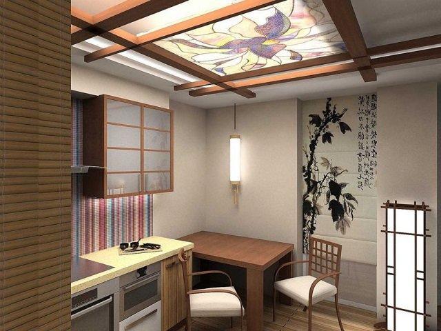 плитка для кухни в восточном (азиатском) интерьере