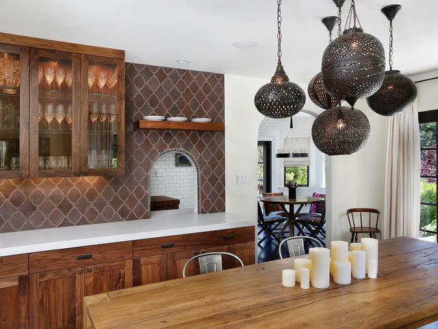 плитка для кухни в марокканском интерьере