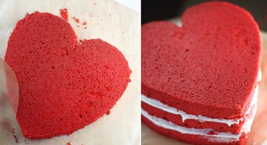 как сделать торт сердце без формы из готовых коржей