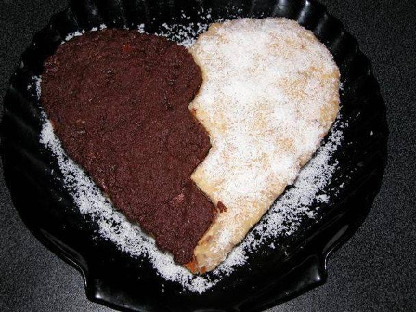 как сделать торт в форме сердца своими руками