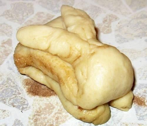 пасхальная булочка в виде кролика