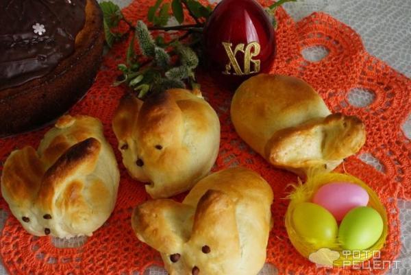 выпечка на пасху - булочки в виде кроликов