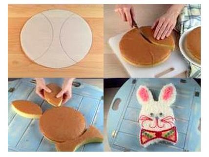 выпечка на пасху - как сделать кекс в виде зайца