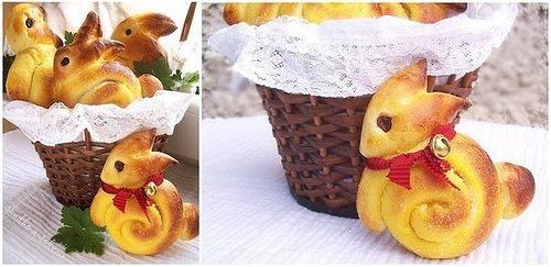 пасхальные булочки - кролики