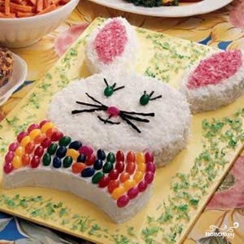 пасхальный кекс в виде кролика