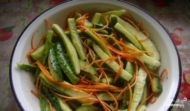 вкусный салат из огурцов по-корейски на зиму