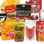 пищевые продукты в дой-пак упаковке