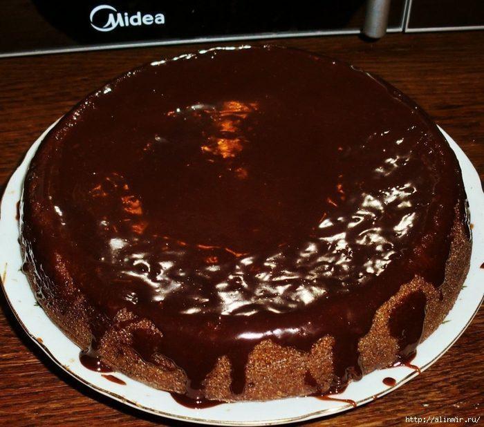 постная выпечка - шоколадный манник