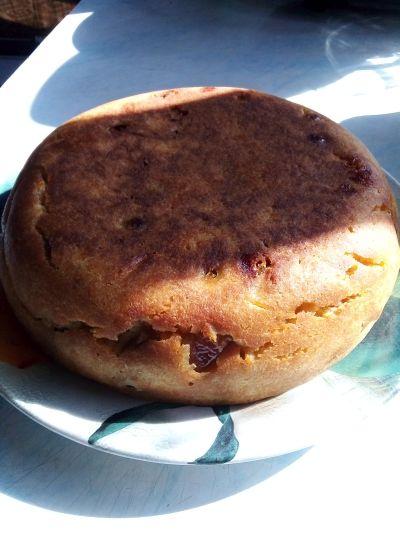 тыквенный пирог испеченный в мультиварке
