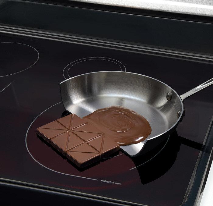 индукционная плита топит шоколад только в посуде